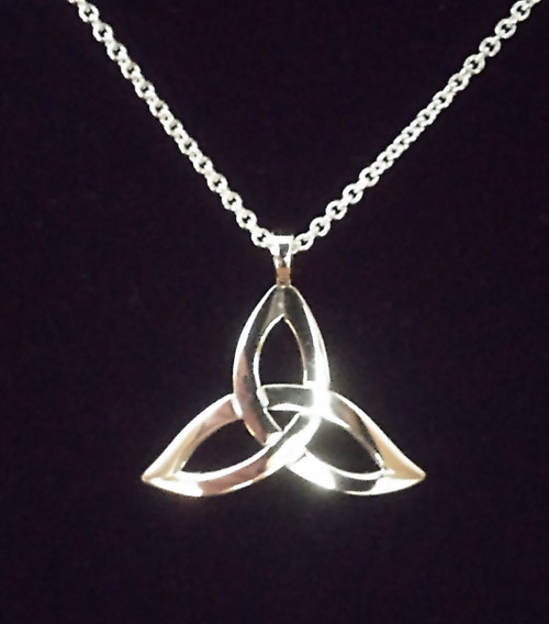 Trinity Knot Sterling Silver Pendant & Chain designed by Declan Killen