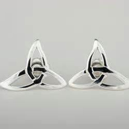 Trinity Knot Sterling Silver Post Earrings