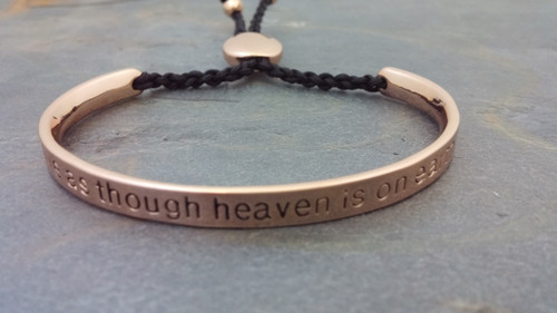 LIVE AS THOUGH HEAVEN IS ON EARTH Rose Gold Plated Bracelet
