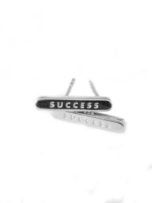 SUCCESS Sterling Silver Stud Earrings