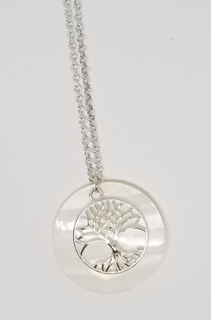 Tree of Life Mother of Pearl Necklace