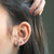 SUCCESS 18 carat Rose Gold over Sterling Silver Stud Earrings