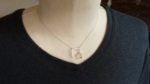 Fusion Sterling Silver & Gold Necklace By Miriam Wade