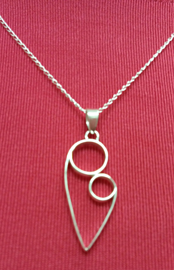 Mother & Child Sterling Silver Necklace