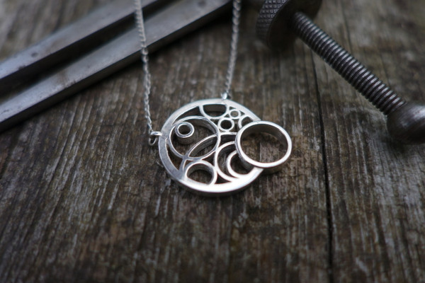 FLOW Sterling Silver Pendant By Miriam Wade