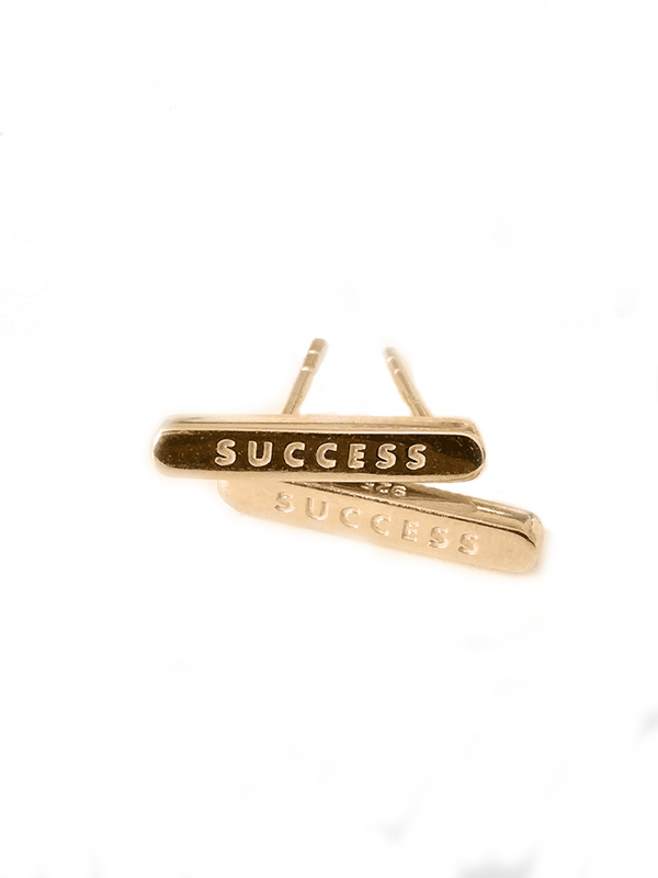 SUCCESS 18 ct Gold over Sterling Silver STUD Earrings