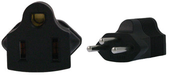 US 3 Pin to Swiss 3 Pin Plug Adapter
