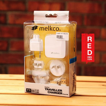 Melkco Traveler Charger (universal power adapters for UK / AU / US / EU) with 2 USB Output Ports