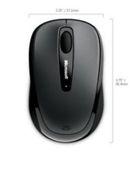 Microsoft Wireless Mobile Mouse 3500 MAC/Win USB Port Gray