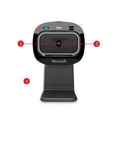 Microsoft LifeCam HD-3000 Win USB Port Hdwr 720P HD Video Recording