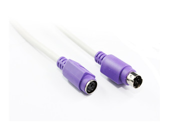 2M PS/2 Extension Cable with Purple Connector