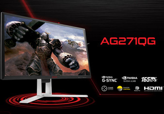 AOC 27' AGONVA 4ms 165Hz 2560x1440 G-Sync Gaming Monitor w/HAS - HDMI/DP,Hub/Charge,Speaker,Height Adjust