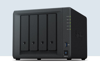 Synology NAS: DiskStation 4BAY Quad-core 1.4GHz 2GB DDR4 Dual 1GbE LAN ports 4K H.265 video transcoding 226 MB/s and 170 MB/s sequential RW
