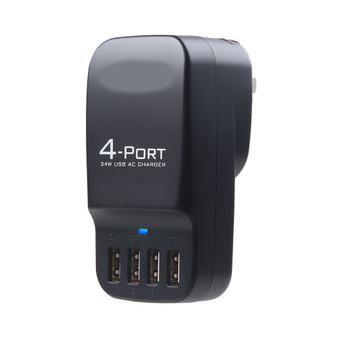 Smart 4-Port USB Travel Charger