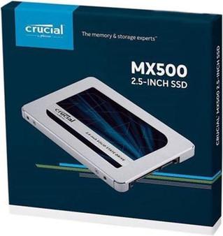 500GB Crucial MX500 2.5' SATA SSD - 3D TLC 560/510 MB/s 90/95K IOPS 7mm w/9.5mm Adapter