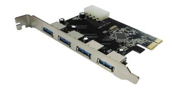USB 3.0 4-Port PCI-E Expansion Card 4Pin Molex power