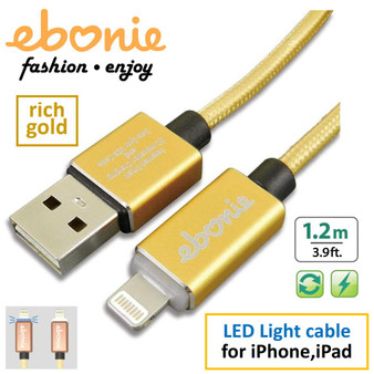 Amber ELT-L04 Gold USB  A MALE TO LIGHTNING MALE MOBILE FAST CHARGE