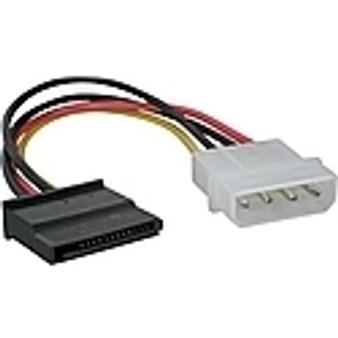 SKYMASTER SATA POWER CABLE 20CM - 4  PIN MOLEX to SATA connector