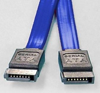 8Ware SATA 3 Cable - Straight - 50cm Blue