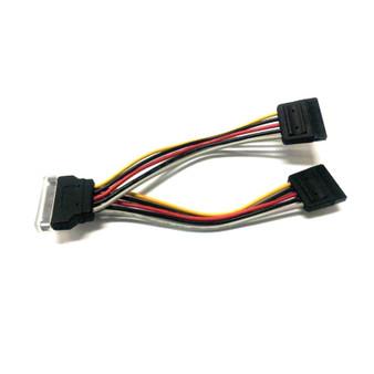 8Ware SATA Power Splitter Cable 1 x 15 pin M - 2 x 15 pin F 15cm