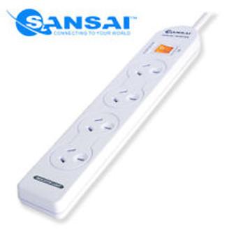 Sansai 4-Way Power Board (131P) with Master Switch