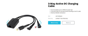 Targus 3-Way Active DC Charging Cable