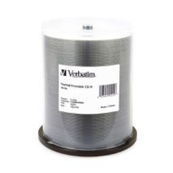 Verbatim CD-R 700MB 100Pk White Thermal 52x	CMV95253