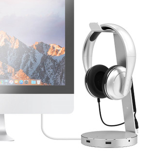 mbeat 'ZACK' Aluminium Headphone Stand w/ USB 3.0 Hub and Audio