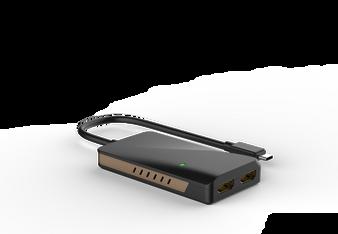 WINSTAR WS-UTA01H  Thunderbolt 3 USB-C to dual 4K HDMI Adapter