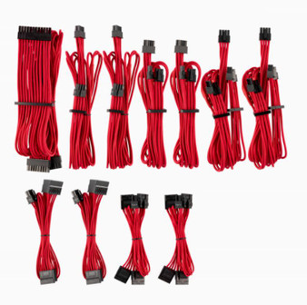 For Corsair PSU - RED Premium Individually Sleeved DC Cable Pro Kit, T