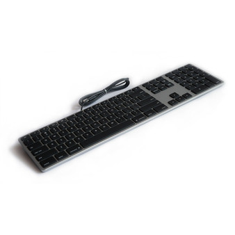Matias Space Grey Wired Aluminium Keyboard for Mac