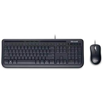 Microsoft Wired Desktop 600 K&M USB Black Mouse & Keyboard Combo - Retail Pack