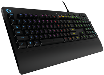 Logitech G213 Prodigy RGB Gaming Keyboard, 16.8 Million Lighting Colors Mech-Dome Backlit Keys Dedicated Media Controls Spill-Resistant Durable Design