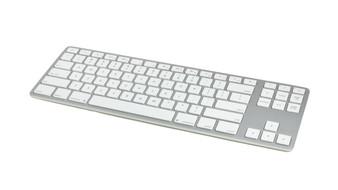 Matias Silver Wireless Aluminium Tenkeyless Keyboard, Mac/Win, up to 3x BT
