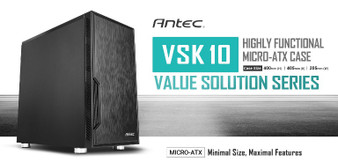 Antec VSK10 mATX Case. 2x USB 3.0 Thermally Advanced Builder's Case. 1