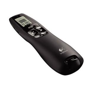 Logitech R800 Laser Presentation Remote LCD display  time tracking 30m