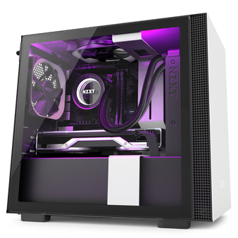 Mini-ITX Tower: Matte White/Black H210i mini Tower Chassis (Smart Devi