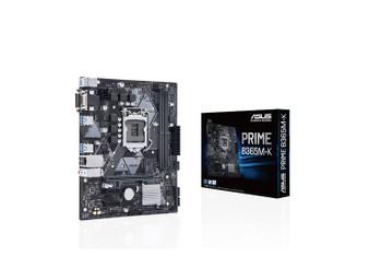 Asus PRIME B365M-K Intel LGA-1151 mATX motherboard with LED lighting,