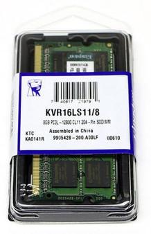 Kingston 8GB (1x8GB) DDR3L SODIMM 1600MHz 1.35V / 1.5V Dual Voltage Va