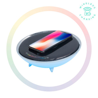 mbeat Wireless Charging Station with RGB Colour Lighting Charging Stan