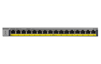 PoE Switch: 16-Port Gigabit Ethernet PoE+ Switch 76W, Rackmount