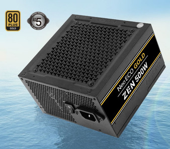 Antec Neo Eco ZEN 500w PSU 80+ Gold, 120mm Silent Fan, Thermal Manager