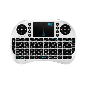 Rii MWK08 Mini i8 Wireless 2.4G Keyboard w Touch Pad White