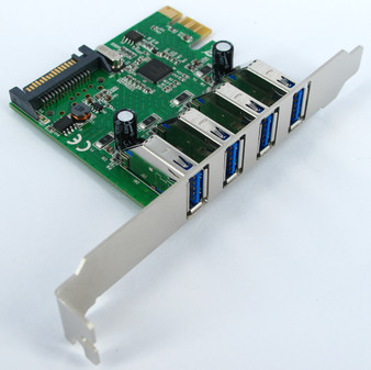 EU306D2 SKYMASTER PCIe USB3.0 4 PORT CARD