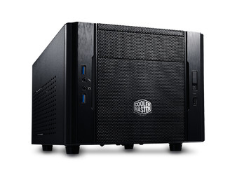 Mini-ITX Case: Elite 130 DT Compact USB 3.0 Black, without PSU