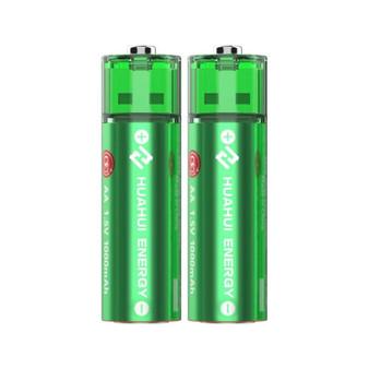 Huahui Energy USB AA 1.5v 1000mAh Rechargeable Battery
