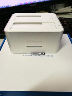 KIMAX Dual 2.5'/3.5' HDD USB 3.0 SATA Clone Dock - Silver