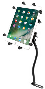 """RAM Pod No-Drill Vehicle Mount with Universal X-Grip Cradle for 10"""" La"""