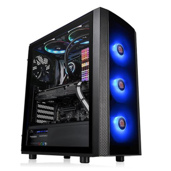 Mid Tower: Versa J25 Side Tempered Glass RGB Edition, 3 x 120mm RGB Fa