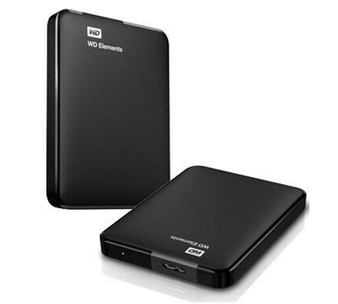 Western Digital WD Elements Portable 2TB USB 3.0 2.5' External Hard Drive - Slim Light Durable Shock Proof Black Plug & Play NTFS for Windows 10/8.1/7